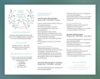 hair stylist beautician salon cosmetology by scribblednapkinteal photographer or creative profession horizontal layout   instant download   word document   free cover letter and references franklin