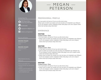 Sales Resume Template - Resume with Free Cover Letter and Second Page- Instant Download - MS Office and Adobe InDesign PETERSON