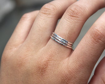 Sterling Silver Stacking Ring Set of 3