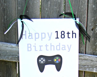 Gaming Door Sign. Happy Birthday. Front Door Sign. Birthday Sign. Welcome Sign.