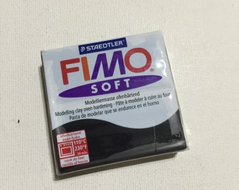 FIMO Soft Polymer Clay - 9 Black - 56g Single Block