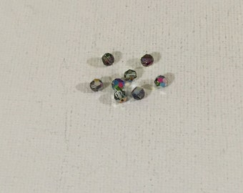 8 Swarovski 5000 4mm Crystal Vitrail Medium Round Beads