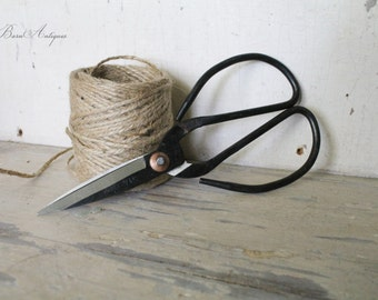 Farmhouse Garden Scissors Black Metal Steel Vintage Style French Country Chic Extra LARGE Fixer Upper Decor Florist