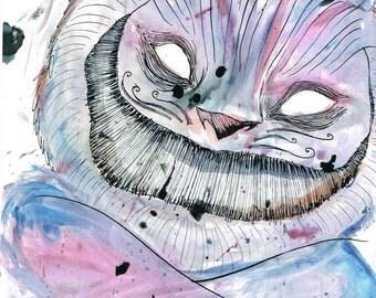ALICE IN WONDERLAND Cheshire Cat A4 Print