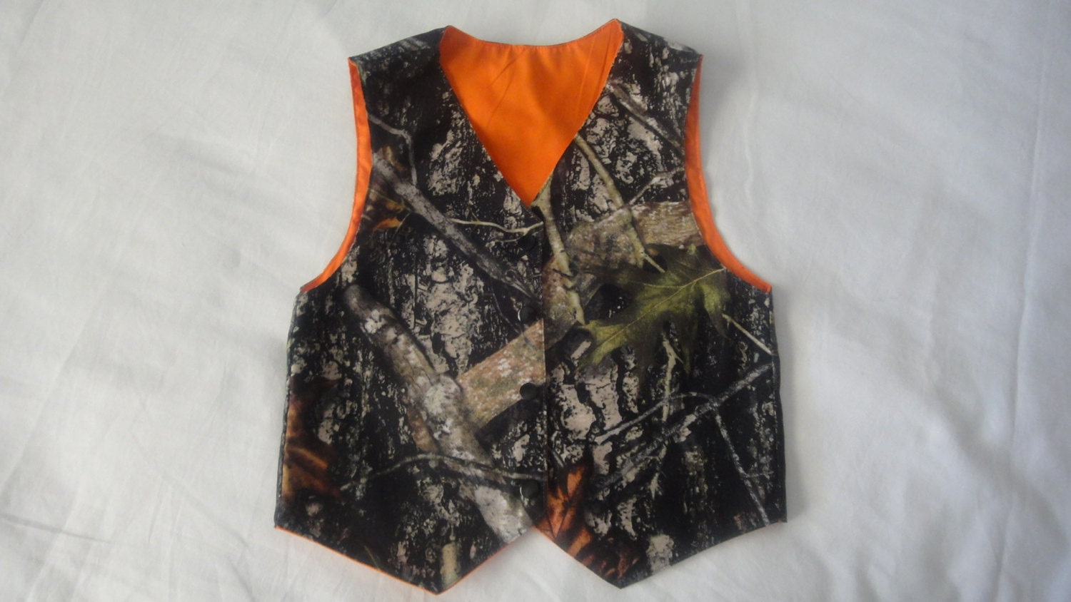 Toddler Boys Camo And Orange Vest 3t