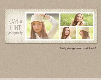 Facebook timeline cover template photo collage photos digital PSD FC021