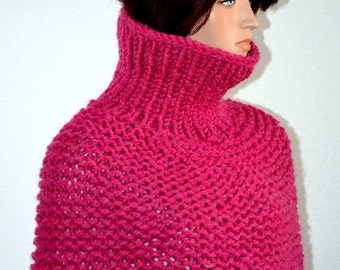 Pink Knit Sweater Cowl/ Pink Knit Cowl/ Knitted Winter Cowl/ Trending Item/ Christmas Gift Item/Lounger Cowl