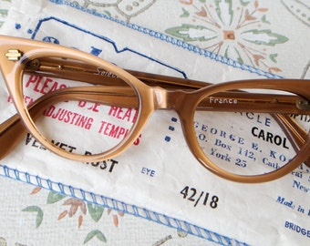 1950s vintage cat eye glasses frame new old stock