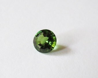Natural Unheated AAA 8mm Round Chrome Green Tourmaline Gemstone, Green Tourmaline Round Loose Faceted Gemstone, 8mm Round Green Tourmaline