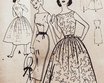 50s McCall's Rockabilly dress patterns, McCall's 3652, Bust 34 inches, Prom dress, wiggle dress, Vintage Sewing pattern