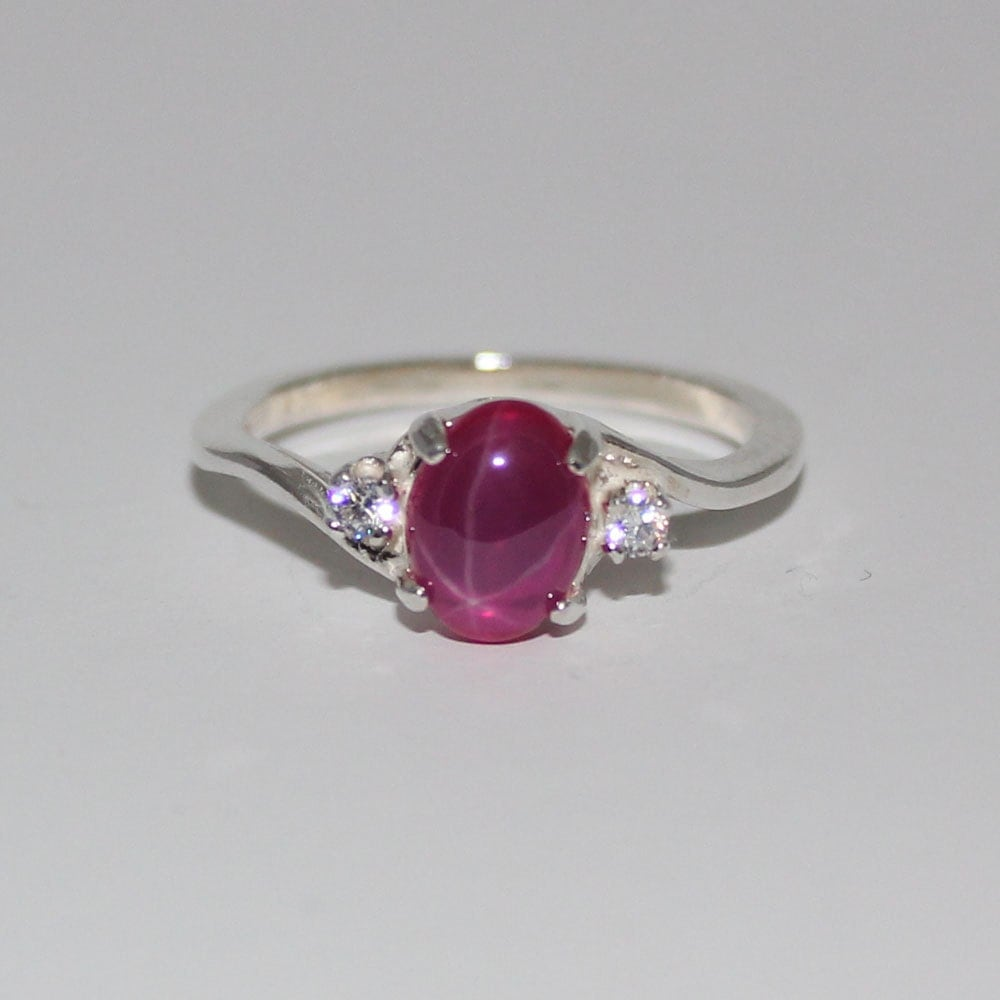ruby ring sterling silver ruby ring silver