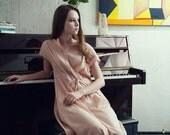 30% Season Off_Rhenish Silk Elegant Maxi Dress_Pale Pink