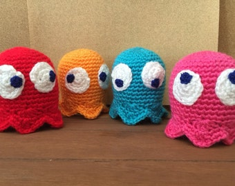 Crochet Pac-man Ghosts