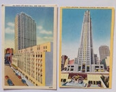 Vintage Linen Postcards-New York City-Radio City Music Hall, Rockefeller Center