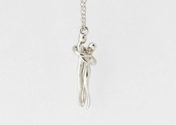 Unique silver pendant necklace couples necklacesilver like this item mozeypictures Choice Image