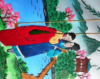 Oriental Silk Embroidery Portrait Painting