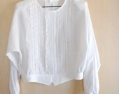 Vintage white lace blouse...