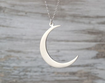 Crescent Moon Necklace Moon Necklace Silver Moon Pendant Sterling Silver Moon Jewelry Rose Gold Moon  Necklace Birthday gift  for women