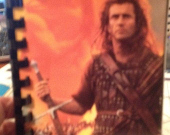 Upcycled, recycled VHS Movie Braveheart Art Journal, Sketchbook, Notebook (FREE Shipping)
