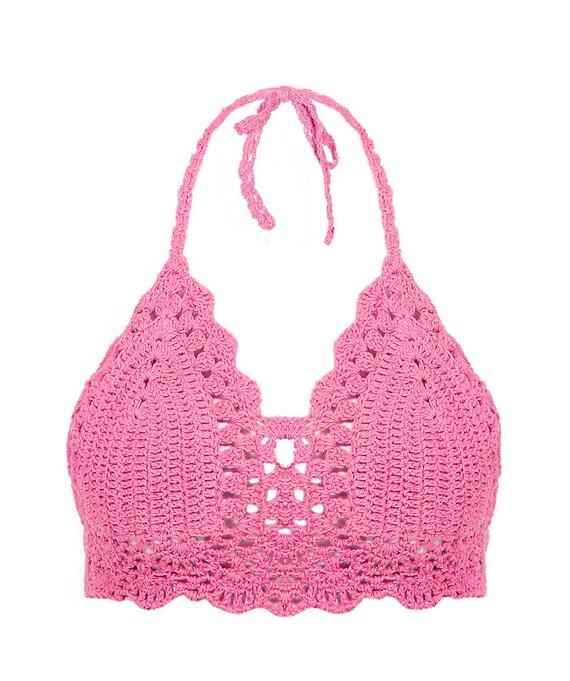 Crochet Swimsuit : Festival Bohemian Crochet Halter Bikini Top Swimwear, Swimsuit Bikini ...