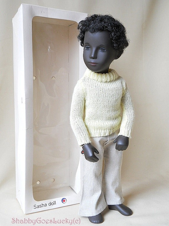 Sasha Doll Black Boy Caleb 1970s Sasha Serie Made In