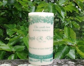 Evergreen Memorial Candle; Personalized Candles; Sympathy Gift; In Loving Memory; In Memory of; Wedding Memorial Candle; Memory Candle