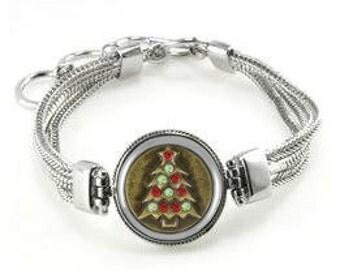 Christmas Bracelet - Christmas Tree Bracelet - Hanukkah Bracelet - Hanukkah Gift - Christmas Gift - Holiday Gift - Holiday Bracelet - Gifts