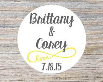 Custom Wedding Stickers, Wedding Favor Stickers, Infinity Wedding, Custom Stickers, Personalized Stickers, Candy Bar Favor Labels