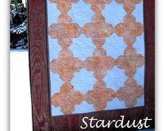 Downloadable pdf quilt pattern - Stardust - simple modern quilt pattern