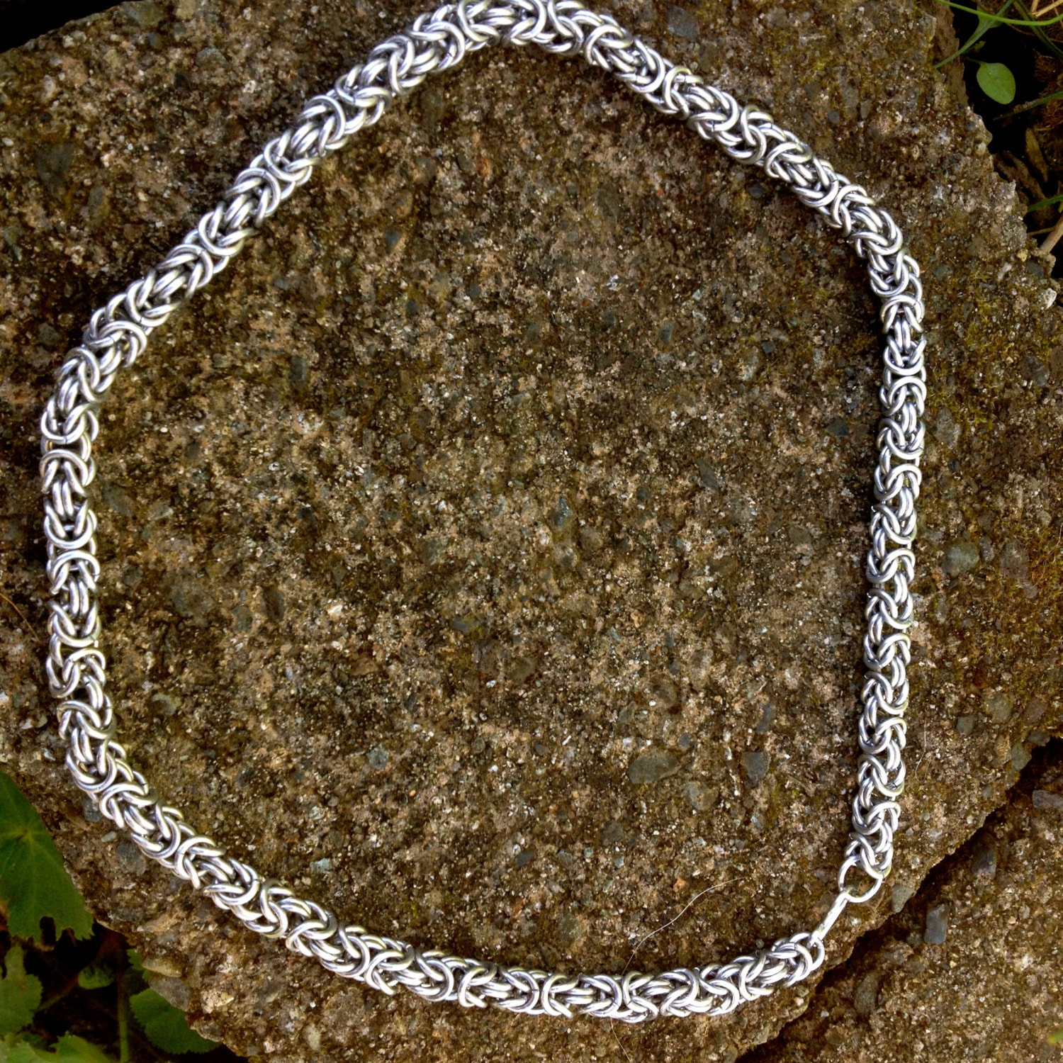 Byzantine Chain Mail Necklace Aluminum Chainmaille Unisex