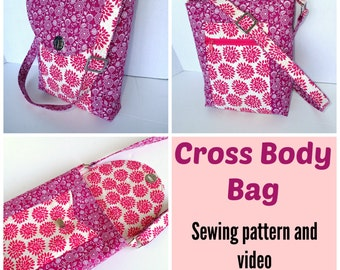Cross Body Bag - PDF Sewing  pattern