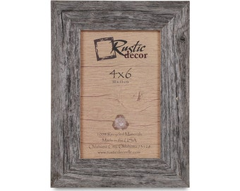 4x6 15 wide rustic barn wood standard photo frame