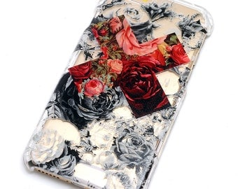 iPhone phone Case Contrast Floral X Flowers Style Phone Case iPhone 6,iphone 7, iphone SE, iphone 6 Plus,iphone  7 Plus, Galaxy S7, Note 5