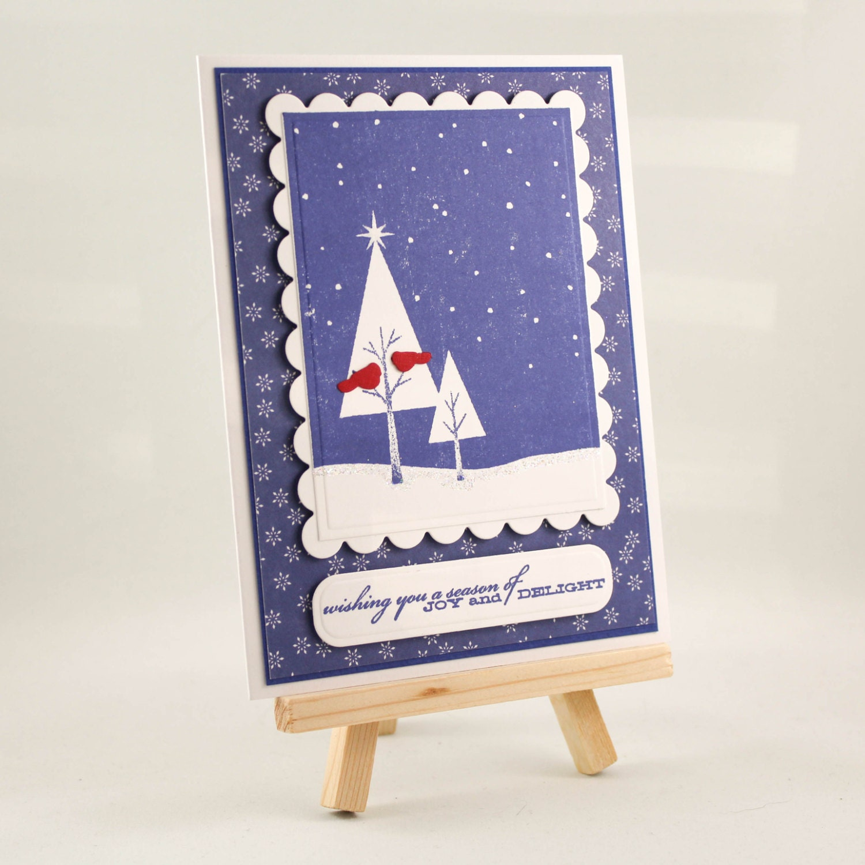 Handmade Christmas Card Unique Christmas Card Christmas