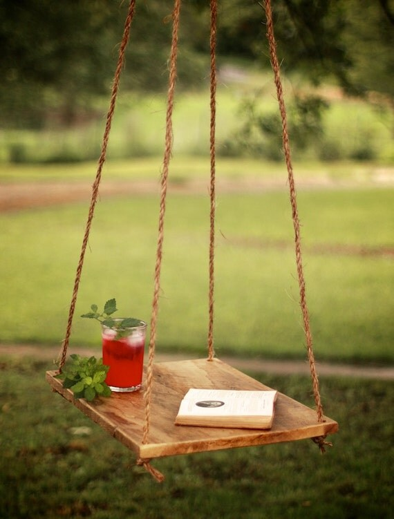 Hammock Table - Hammock Table - Garden Table - Suspended Table - Rope