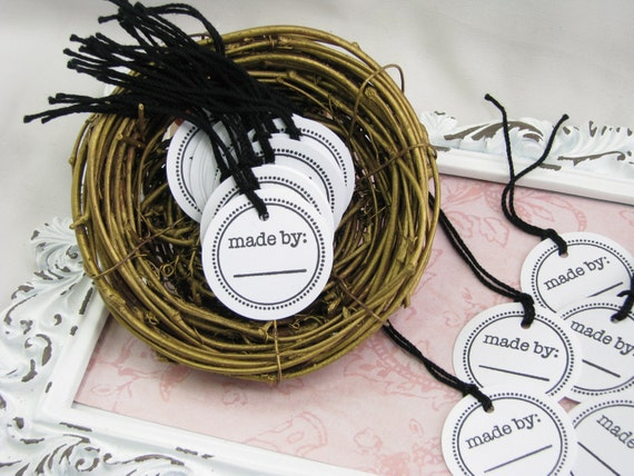 Made by tags price tags craft trade show tags gift tags for Price tags for craft shows
