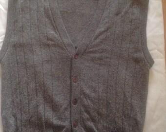 Jaeger Vintage Grey Sweater Vest