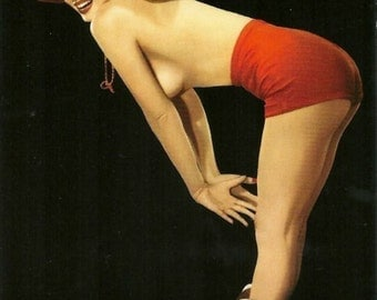 Marilyn Monroe - In a pinup photo from the late 1940's