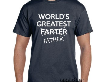 Funny Grandpa Gift Father Gift Husband Gift Funny t-shirts Brother Gift Mens TShirt Grandfather Gift Funny tshirts Worlds Greatest Farter