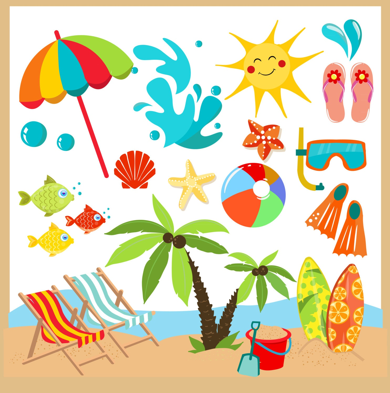 Summer / Beach clipart Clip Art / summer Digital Clipart