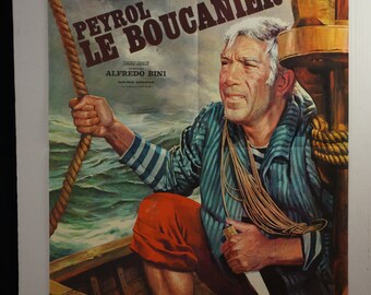 "Peyrol the Buccaneer  Movie Poster  Peyrol LE BOUCANIER""    1967 Italian Movie Poster -   Anthony Quinn    Rita Hayworth"