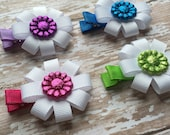 Baby Barrettes, Baby Hair Clips, Sparkle Hair Bow, Glitter Flower Hair Bow, Hair Clip for Little Girl, Baby Hair Bows, Bow, Infant Hair Clip