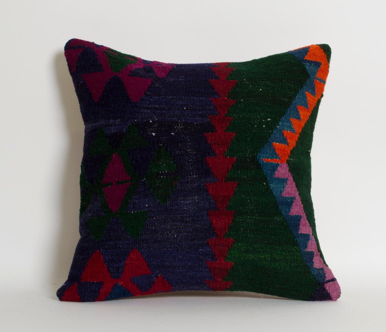 Rug Pillow Kilim Rug Vintage Kilim Turkish Rug Cushion
