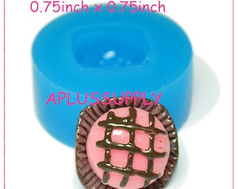 XYL125 Chocolate Ice Cream Flexible Silicone Mold 19mm - Bakery Resin Air Dry Polymer Clay Molds, Cabochon Mold Food Safe