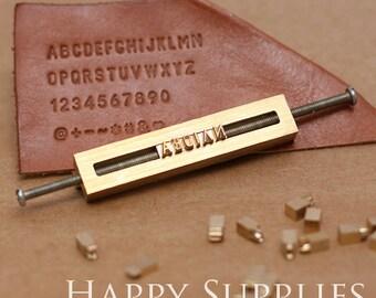 Customsized 26 Alphabet Letter Brass Leather Stamp / Interchangeable Wood Branding Heat Embossing w T-slot Holder Soldering Iron Stamping