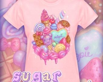 "Women's ""Sugar Sweet"" Pink T-Shirt"