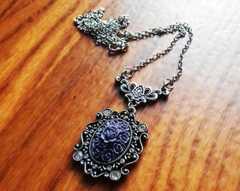 Gothic Necklace, Victorian Cameo, Gothic jewelry, evil queen necklace, ouat necklace, Gothic Cameo, victorian necklace, Celtic Necklace