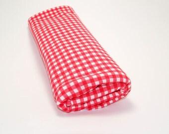 Red Gingham Swaddle Blanket, Gingham Swaddle Blanket, Summer Baby Receiving Blanket, Red White Baby Swaddler, Lightweight Cotton Blanket
