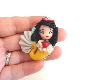 Snow White little mermaid polymer clay summer 2015 doll fairy tale ooak