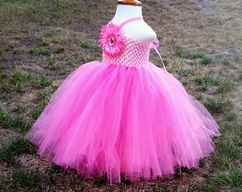 Hot Pink Tulle Dress, many colors available